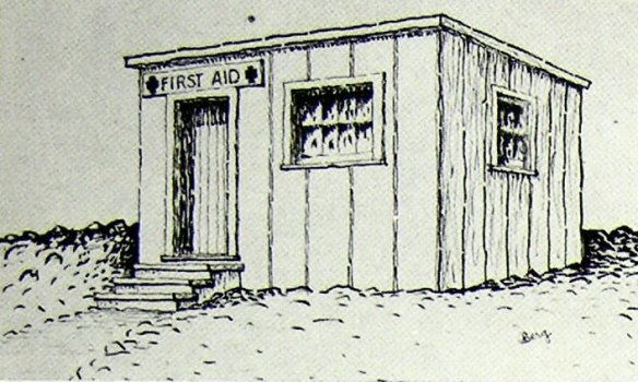 image of original first aid station